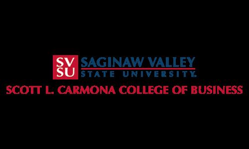 Saginaw Valley State University Scott L. Carmona College of Business logo